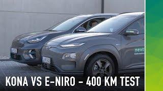 Verbrauchs-Challenge: Kia E-Niro vs. Hyundai Kona auf Autobahn | Elektroauto Test