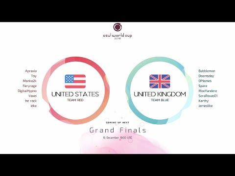 osu! World Cup 2018: Grand Finals: United States vs United Kingdom GAME 1