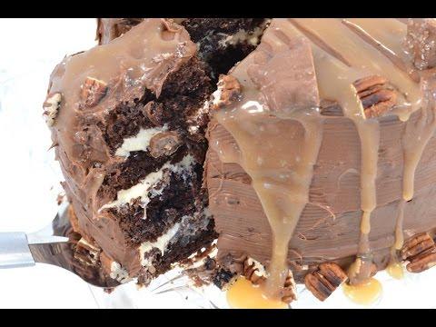 Chocolate Turtle Cake - Layered Chocolate Cake Recipe | RadaCutlery.com