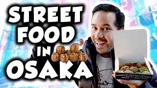 Delicious street food in Osaka! Dotonbori Japanese food adventure