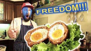 Как приготовить Шотландские Яйца? Рецепт блюда Яйцо В Котлете