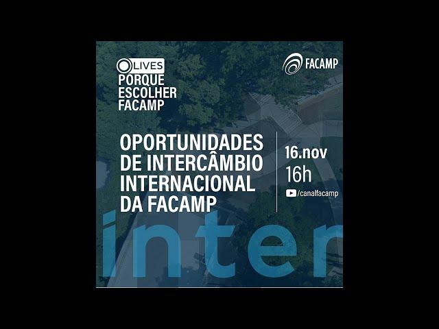 Oportunidades de intercâmbio internacional FACAMP