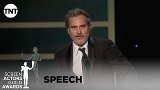 Joaquin Phoenix: Award Acceptance Speech | 26th Annual SAG Awards | TNT