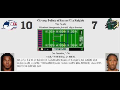 Week 10: Chicago Bullets (3-6) @ Kansas City Knights (3-6)