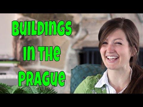 Building architecture in Prague, Czech Republic
