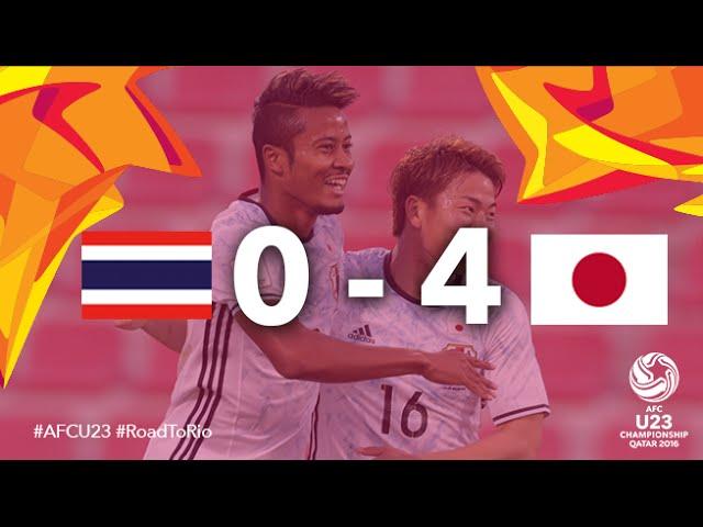 Video: U23 Thái Lan vs U23 Nhật Bản