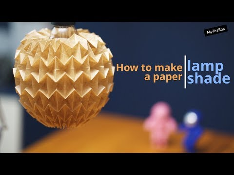Magicball lampshade / How to make a paper lampshade 7 (LED, DIY), 매직볼 종이 전등갓 만들기