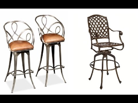 Wrought Iron Bar Stools Youtube