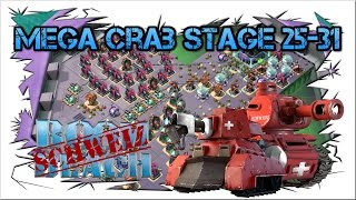 Mega Crab 3 ! Stage 25-31 Clear !!! Boom Beach !!!