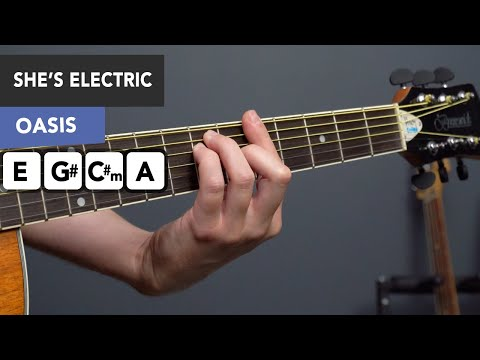 How to Play She's Electric by Oasis - Guitar Lesson/ Tutorial