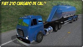 FIAT FNM 210 + TOLVA 2+1 CARGADO DE CAL - DESCENDIENDO UNA SIERRA - MAPA RBR ETS2 MODS 1.34
