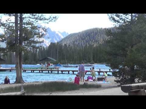 Camping At Redfish Lake In The Idaho Sawtooth Mountains