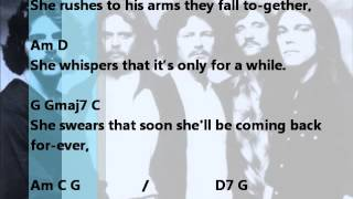 Backing track Lyin Eyes - The Eagles (chords and lyrics)