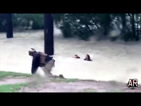 Hurricane Harvey: CBP & Marine's Swift-Water Rescues Of Children, Families Clinging To Trees!