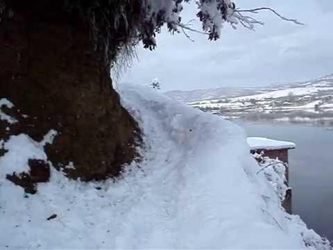 Walking in snowy  Albania