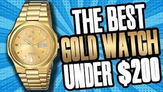 "The BEST Gold Watch UNDER $200 | Seiko SNKK52 ""The Seikonaut"" Review"