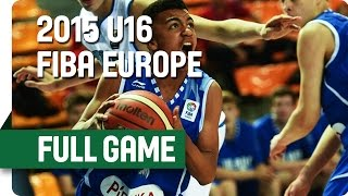 Italy v Finland - Group C - Full Game - 2015 U16 European Championship Men
