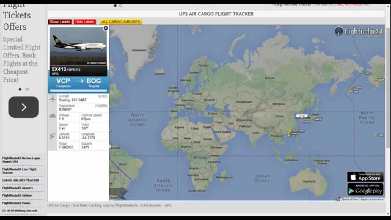 UPS Air Cargo Tracking - YouTube