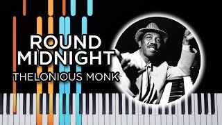 Round Midnight - Jazz piano solo tutorial