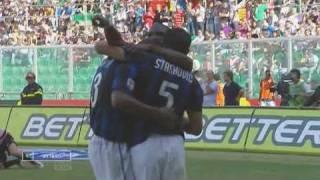 Serie a, stagione 2010/2011, 3-a giornata, 19 settembre 2010. stadio renzo barbera - palermo vs. inter (1:2).marcatori: 28' ilicic, 62' e 70' eto'o. palermo:...