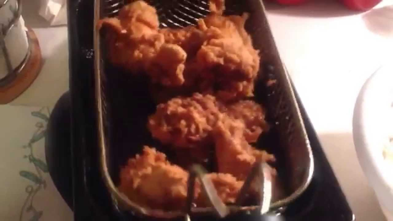 Wet Battered Fried Chicken and Homecut French Fries - YouTube