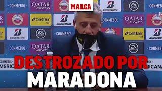 El dolor de Crespo por Maradona: