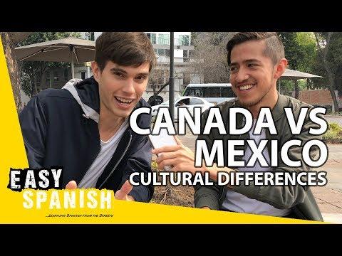CULTURAL DIFFERENCES: CANADA & MEXICO   Easy Spanish [Bonus Episode]