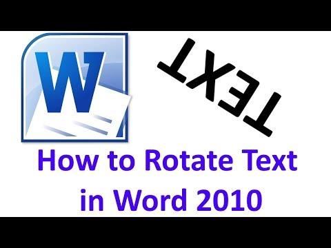 Вопрос: Как вращать текст в Microsoft Word?