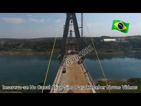 As obras por todo o país não param. E a segunda ponte Foz Do Iguçu Brasil / Paraguai é exemplo disso