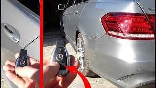 Opening the Doors with the Remote Two Modes on Mercedes W212 / Hidden Function on Mercedes