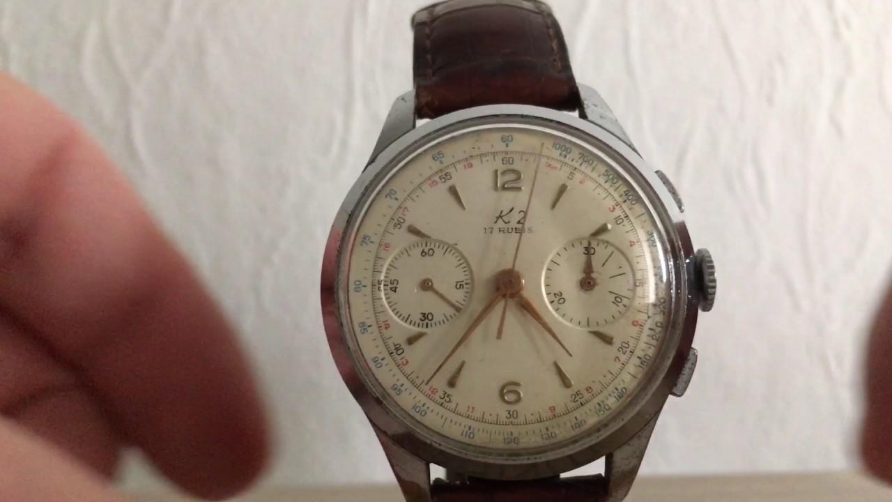 Landeron 248 Chronograph service - part 1 - YouTube