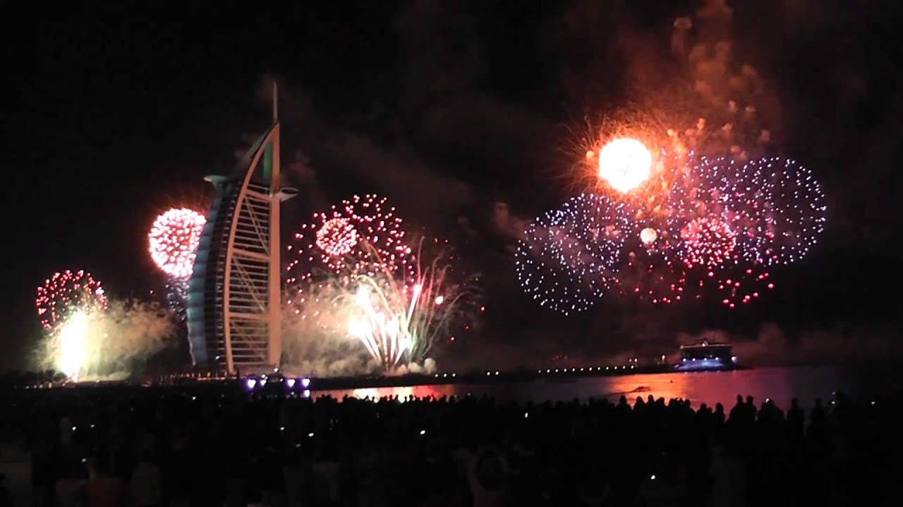 2011 dubai burj al arab fireworks 2 hd - youtube