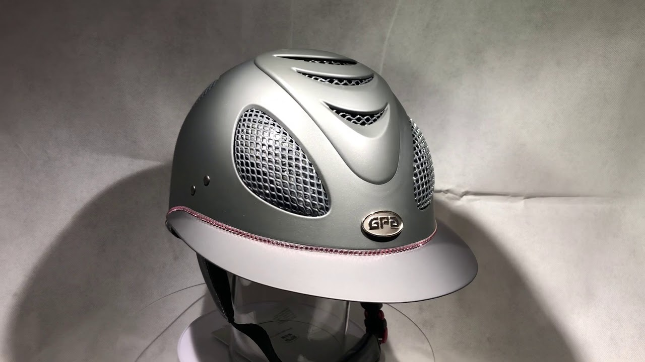 Casque Gpa First Lady Grise Strass Rose Youtube