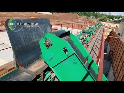 Лесопильная линия на базе станков Akkuslar производительностью 400 м.куб пиловочника в смену