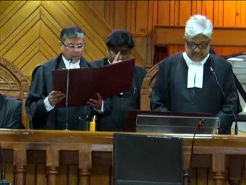 NAINITAL HIGH COURTS NEWLY ELECTED JUDGE JUSTICE LOKPAL SINGH TAKING OATH