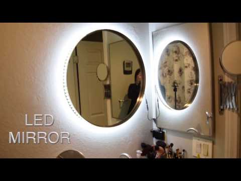 DIY Vanity Mirror w LED Lights | cheap and easy ✧ TesiaBeau