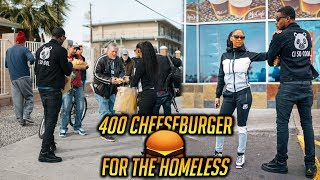 400 Cheeseburger For The Homeless