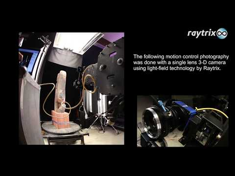 Raytrix 3D light-field technology – sculpture motion control