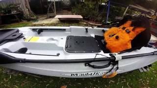 malibu x caliber fishing kayak first impressions and setup