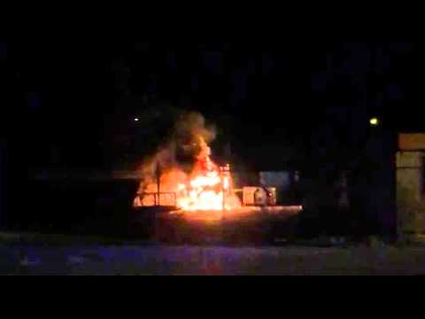 Lastbil exploderade i Lysekil