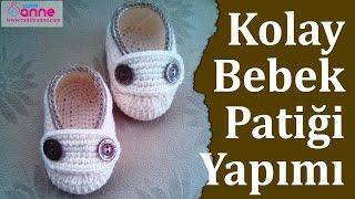 Kolay Bebek Patiği Yapımı - Bebek Patiği Yapılışı , Canım Anne