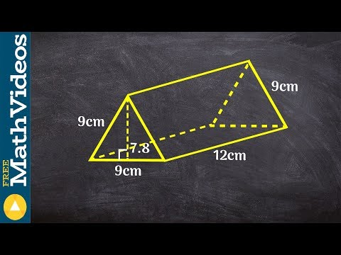 How to find the surface area of a triangular prism