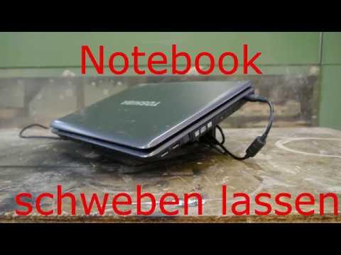Notebook schweben lassen Laptop Ständer Halterung selber bauen