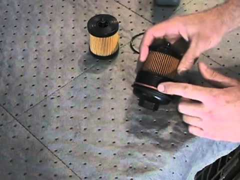 how to change a cartridge oil filter in a chevy hhr youtube. Black Bedroom Furniture Sets. Home Design Ideas