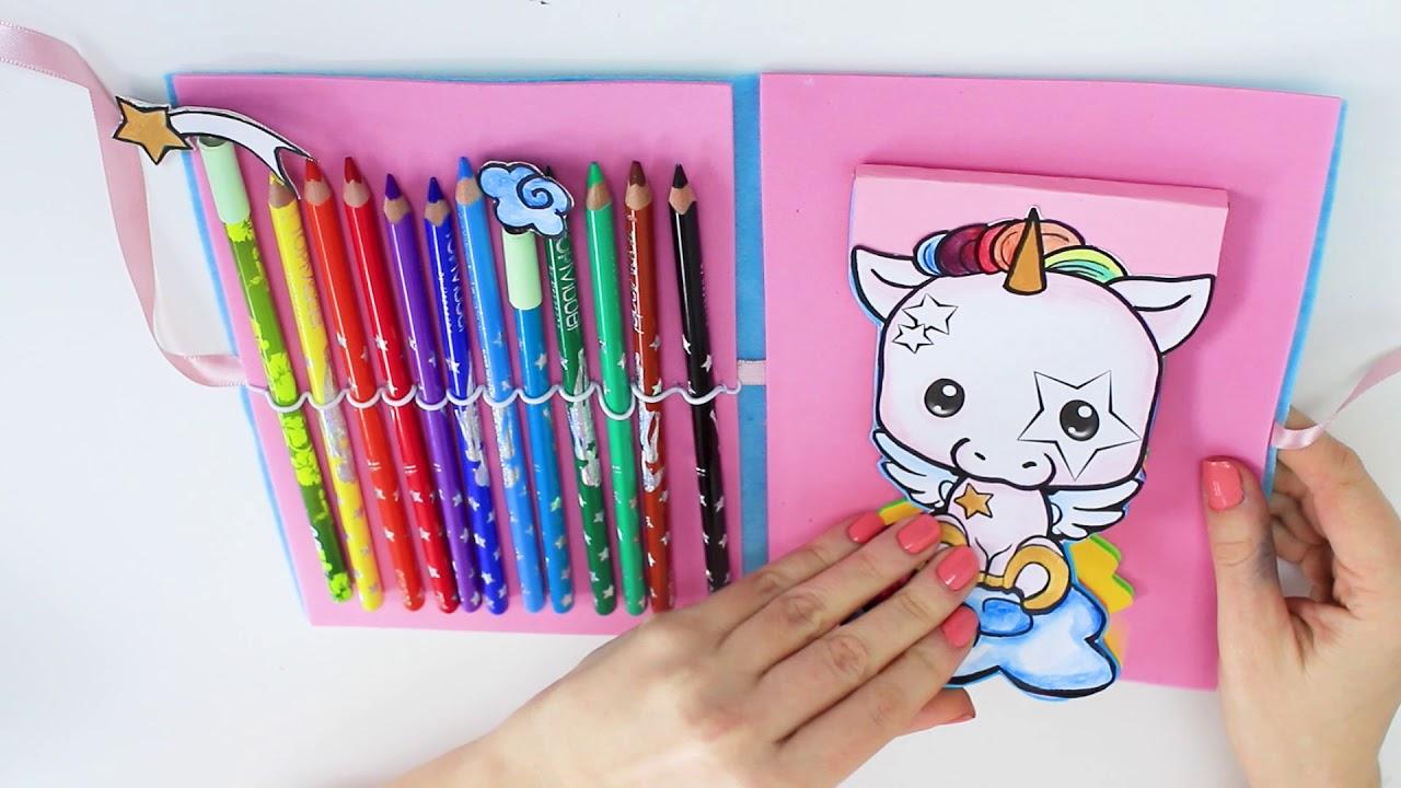 DIY UNICORN NOTEBOOK | MANGAModel Cute Friends Malbuch || Foxy Draws ...