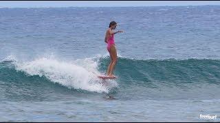 Longboard / Natalia Smith at Queen's in Waikiki - Freesurf Magazine