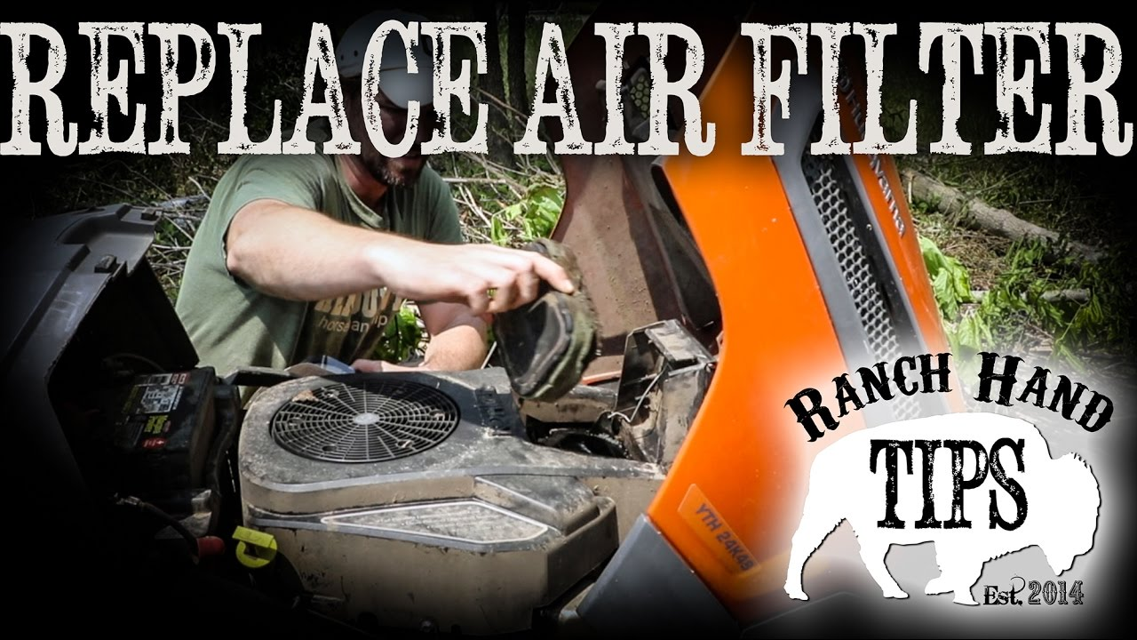 Husqvarna Riding Mower Change Air Filter Ranch Hand Tips