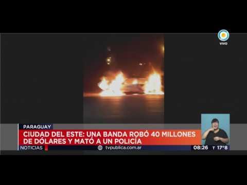 TV Pública Noticias - El mayor robo de la historia en Paraguay: 40 millones de dólares