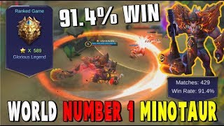 BEST MINOTAUR IN THE WORLD! *VN HROIN* AND HIS 91.4% WINRATE!! Mobile Legends