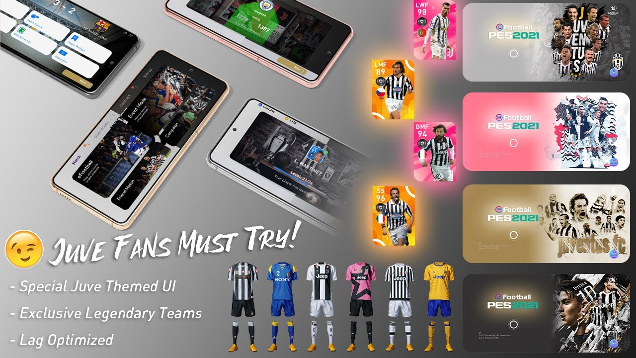 [v5.5.0] 'Forza Juve' Platinum OBB Patch | PES 2021 Mobile | Licensed & Exclusive Iconic Teams |